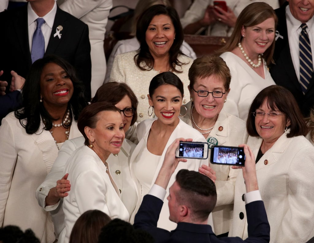Alexandria Ocasio-Cortez White Blazer at State of the Union