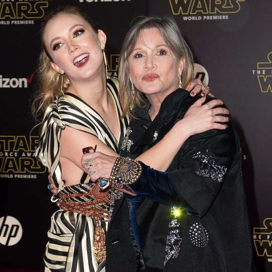 Carrie Fisher and Billie Lourd at Star Wars LA Premiere
