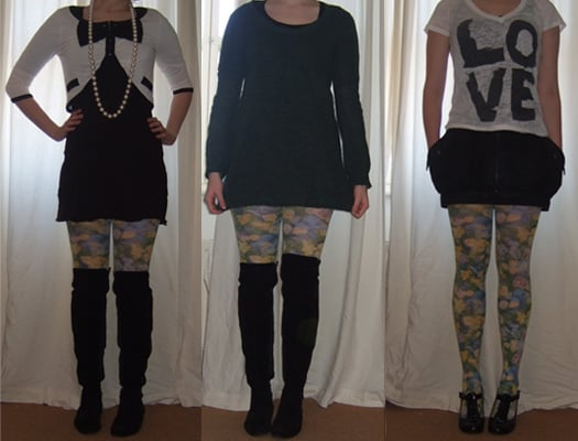 Style for Style: Floral Tights