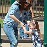 Jennifer Garner and Seraphina Get Playful at the Park