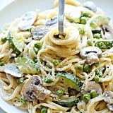 1-Pot Zucchini, Pea, and Mushroom Pasta