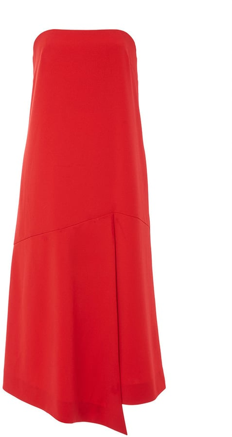 Tibi Structured Crepe Strapless Drape Dress ($425)