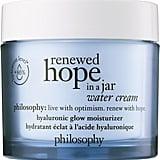 Best Face Moisturiser For Oily Skin: Philosophy Renewed Hope in a Jar Water Cream