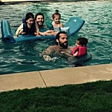 "Jensen shared this snap of his family pool day with Jared Padalecki on Father's Day 2015. ""#HappyFathersDay to all the great men out there. Including my boy @jarpad #SPNfamily,"" he wrote."