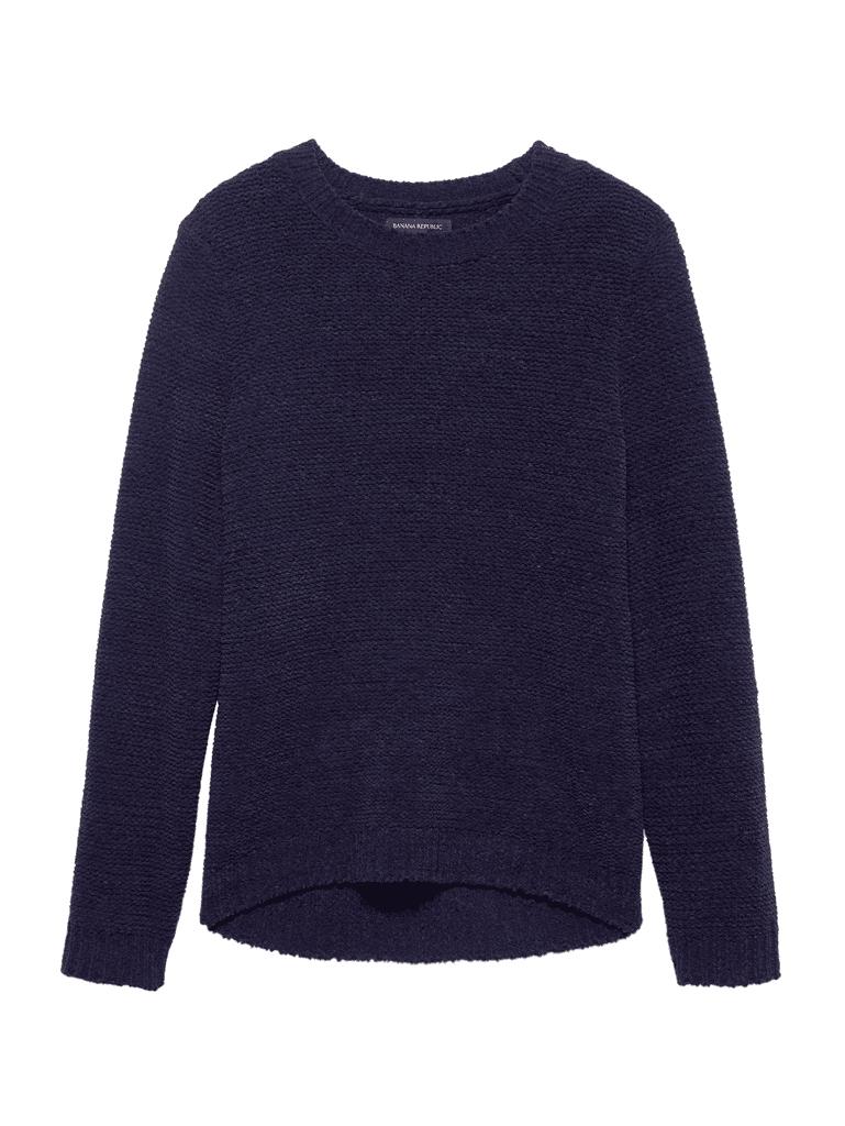 Chenille Crew-Neck Sweater
