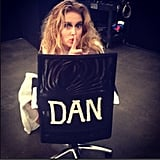 Doutzen Kroes sneakily sat in her photographer's chair. Source: Instagram user doutzenkroes1