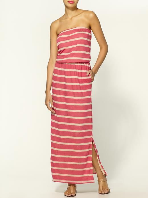 For a daytime dress-up, a brightly-hued maxi should do the trick. Hive & Honey Striped Slub Maxi Dress ($49)