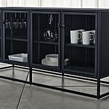 Madeline: Casement Black Large Sideboard