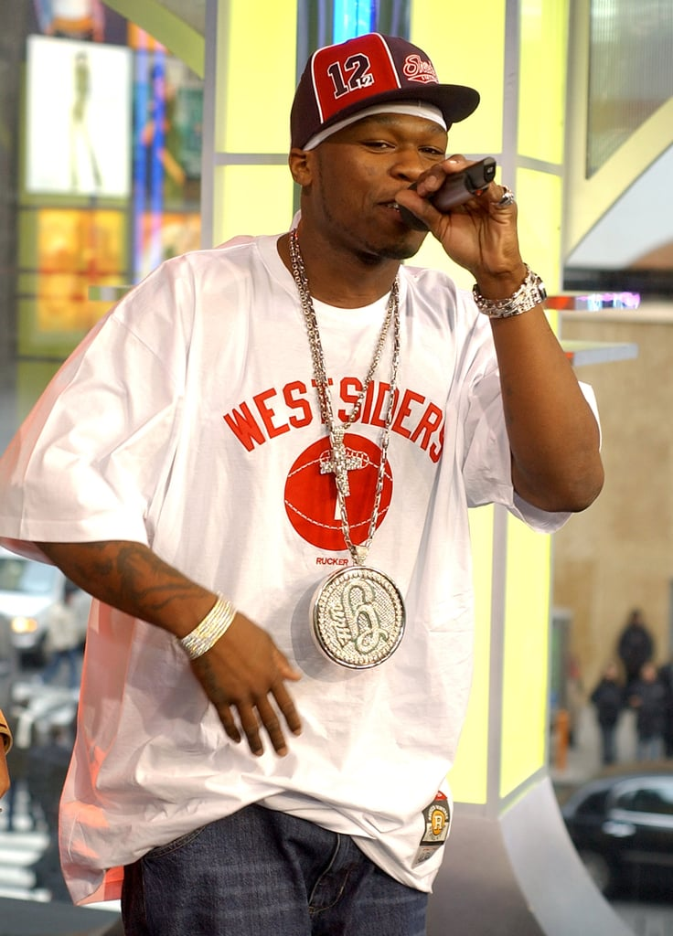 50 Cent performed for an episode of TRL in 2003.