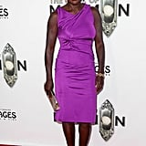 Viola Davis stood out in purple at The Book of Mormon.