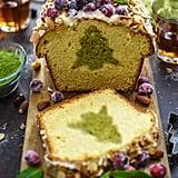 Amaretto Matcha Christmas Cake