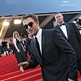Robert Pattinson made his way up the the red carpeted stairs for girlfriend Kristen Stewart's On the Road premiere at the Cannes Film Festival.