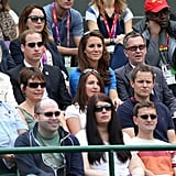 Will and Kate watched Olympic tennis at Wimbledon.
