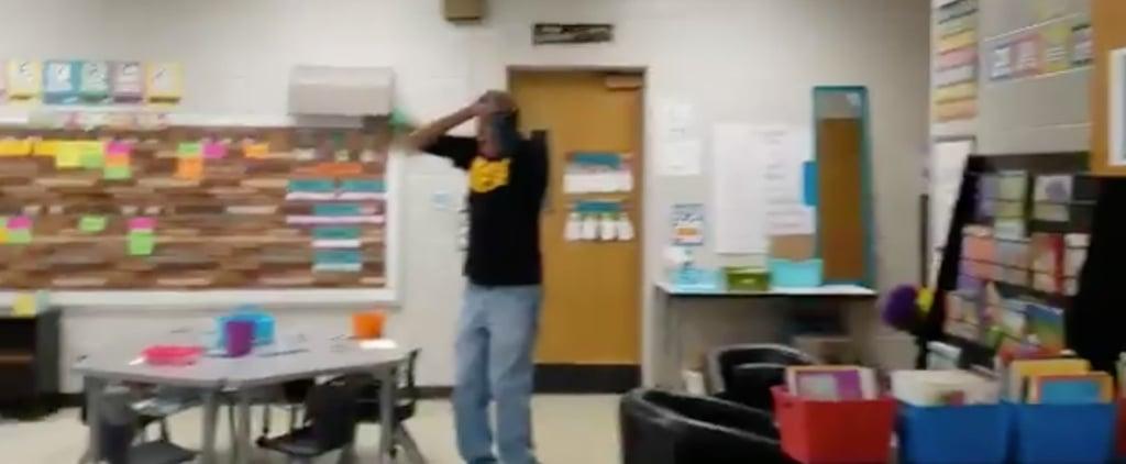 Kindergarteners Sign Happy Birthday For Deaf Custodian