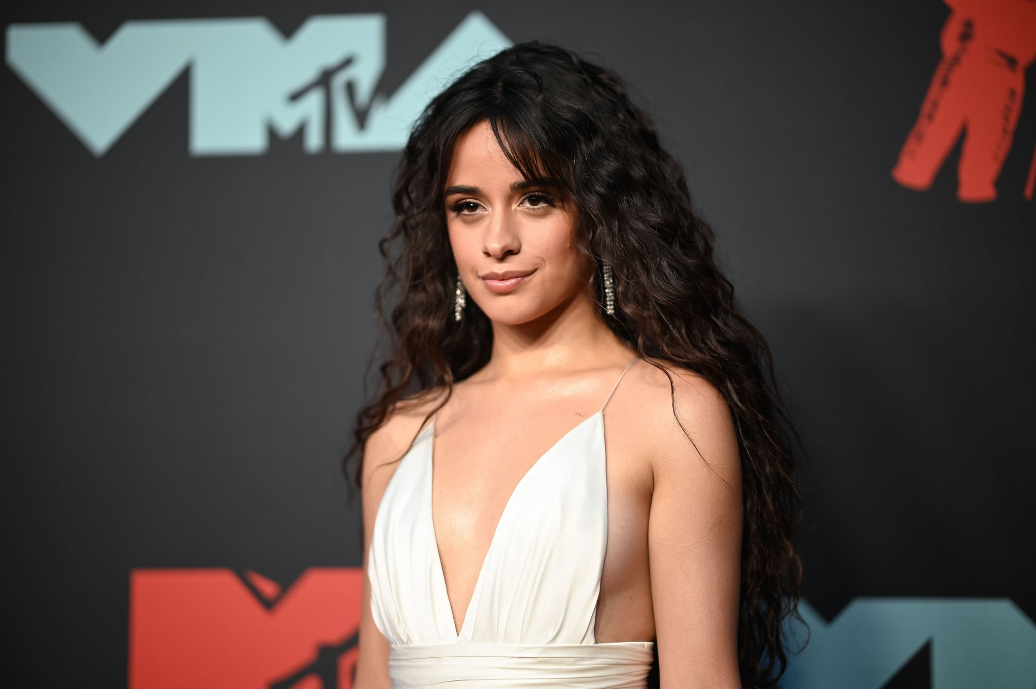 US-Cuban singer-songwriter Camila Cabello arrives for the 2019 MTV Video Music Awards at the Prudential Center in Newark, New Jersey on August 26, 2019. (Photo by Johannes EISELE / AFP)        (Photo credit should read JOHANNES EISELE/AFP via Getty Images)