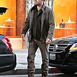 Ben Affleck loaded up his trunk after shopping.