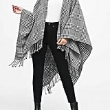 Houndstooth Plaid Poncho