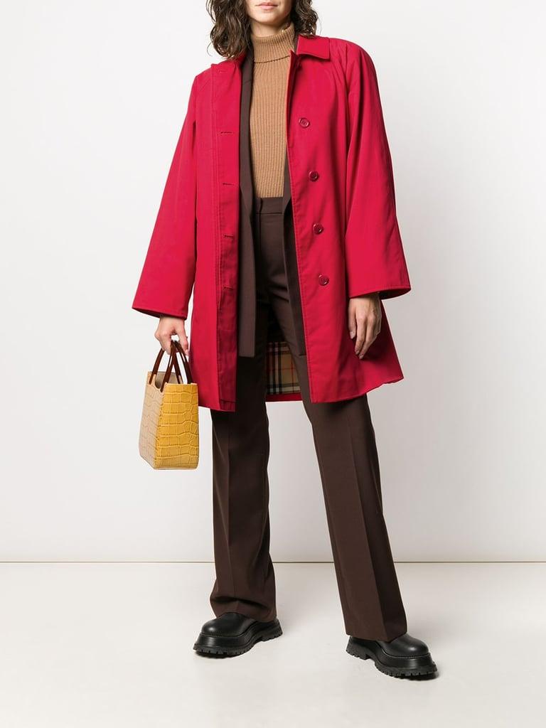 Burberry 1980s cutaway collar coat