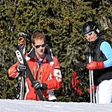 George Percy and Pippa Middleton spent time together on the slopes in France.