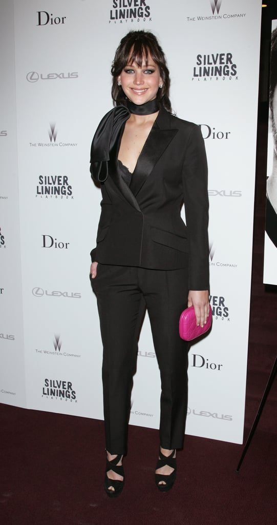 Jennifer Lawrence posed at the NYC screening of Silver Linings Playbook.