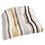 Standard Contour Chair Cushion in Natural Multi Stripe