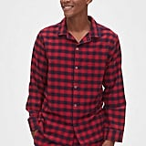 The black and red plaid pattern on these  Flannel Pajama Set ($65) screams festive.