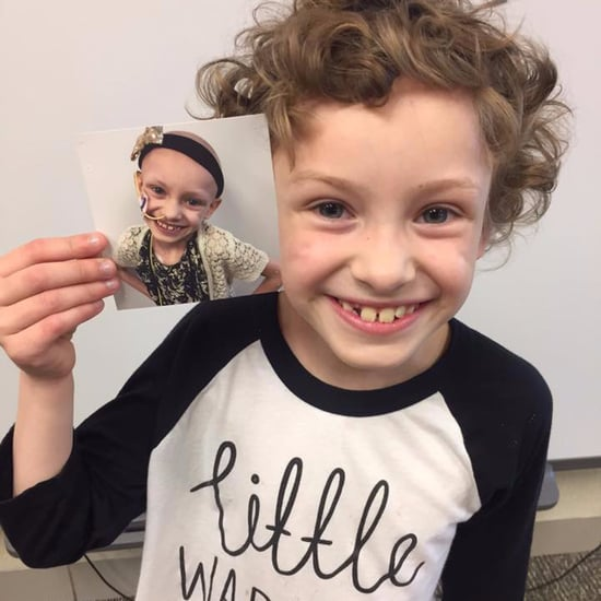 Girl With Cancer's First and Last Day of School Photo