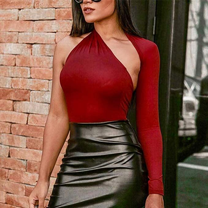 Limtery One-Shoulder Cutout Bodysuit
