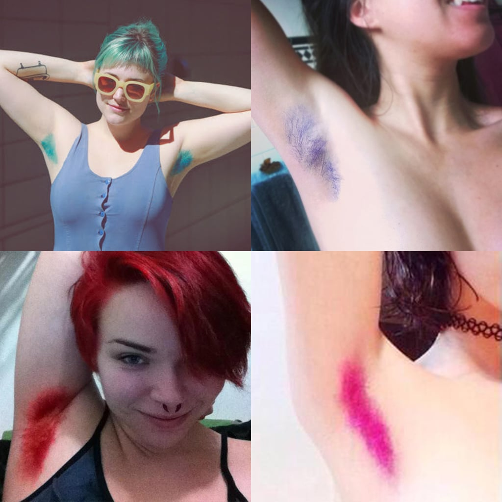Dyeing Your Armpit Hair Colors
