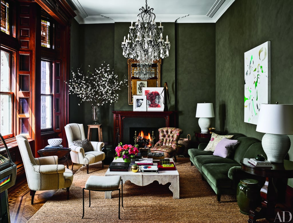 "Jessica Chastain doesn't shy away from big roles, and she doesn't shy away from big interior design choices either, as proven by the makeover she gave the 19th-century apartment she shares with her boyfriend, Gian Luca Passi de Preposulo, in Manhattan, NYC. We got a glimpse of the $5.1 million four-bedroom property at the time she purchased it, and while the historic home seemed straight out of a fairy tale, it also needed a bit of updating. Now, over a year later, the home has been completely updated in dramatic style. The actress and her fashion executive beau invited Architectural Digest in for a tour and what they revealed inside will surprise you. Instead of brightening everything up with light gray paint, the interior design wall color du jour, or knocking down walls to create a trendy open-concept floor plan, interior designers Jesse Carrier and Mara Miller lined walls with deep color, added rich furniture with rich fabrics, layered textures and patterns, and highlighted the home's elaborate molding, woodwork, and six fireplaces. Their go-to designer was fashion favorite Ralph Lauren, whose luxurious home line can be seen throughout the breathtaking space. The transformed home is a contemporary take on Victorian splendor. ""Our biggest triumph was breathing new life, glamour, and sophistication into the old girl,"" designer Jesse told the magazine. Get a glimpse of the property in the images ahead, then check out the October 2016 Architectural Digest for the complete story and slideshow."