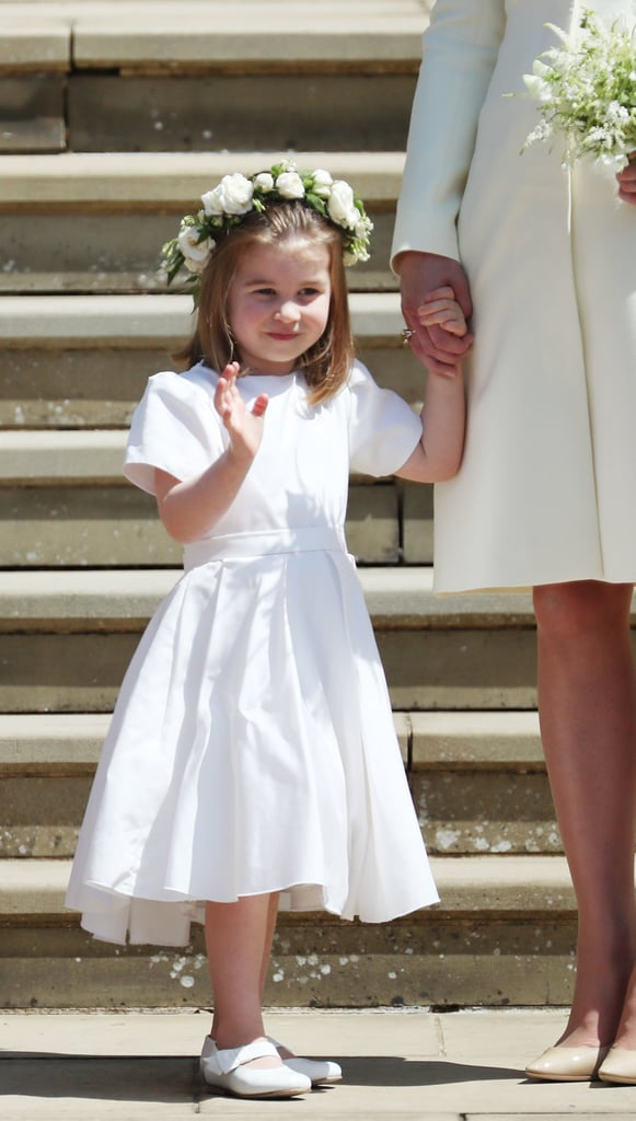 Prince Harry and Meghan Markle tied the knot in a beautiful ceremony at St. George's Chapel on May 19, and Prince George and Princess Charlotte looked too cute for words. Sadly, Prince Louis was left at home, but his brother and sister played a big part in their uncle's wedding, serving as pageboy and bridesmaid. For the special occasion, George looked adorable in a black suit, and Charlotte was precious in a white dress. Of course, this wasn't George and Charlotte's first big wedding. Back in May 2017, they were both part of the bridal party for their aunt Pippa Middleton's nuptials, where they also served as pageboy and flower girl. Read on to see more adorable photos of the young royals helping Harry and Meghan on their big day, but be warned: they'll make you melt.      Related:                                                                                                           See Every Single Stunning Photo From Prince Harry and Meghan Markle's Royal Wedding!