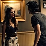 Look at her, holding her own against Damon.