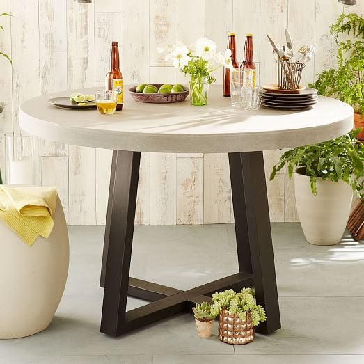 Slab Outdoor Round Dining Table West Elm Is Having A Huge