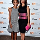 Quvenzhané Wallis and Salma Hayek linked up at the premiere of Kahlil Gibran's The Prophet.