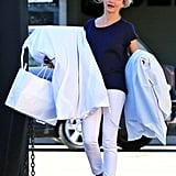 Cameron Diaz carried shopping bags in California.