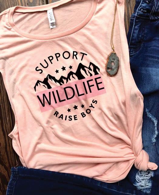 Support Wildlife, Raise Boys Tee