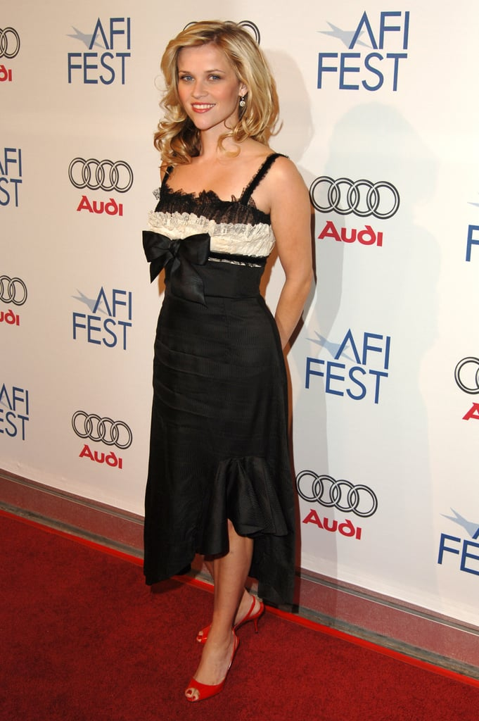 Reese Witherspoon in Black and Cream Dress at 2005 AFI Fest