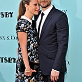 Tobey Maguire and Jennifer Meyer showed PDA on the red carpet.