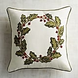 Holly Wreath Pillow ($35)