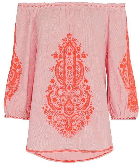 Christophe Sauvat Cai Cai Embroidery Top ($188)