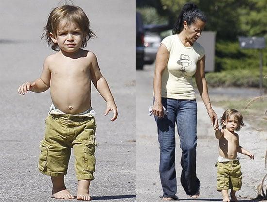 Photos of Levi McConaughey With His Nanny