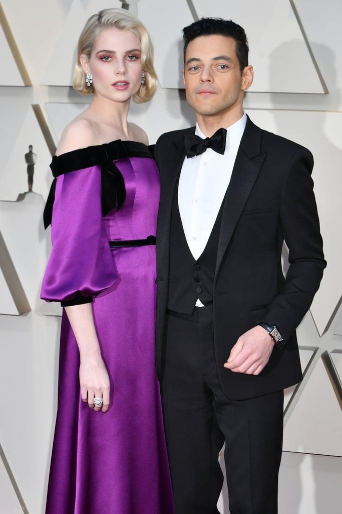 Lucy Boynton and Rami Malek at the 2019 Oscars