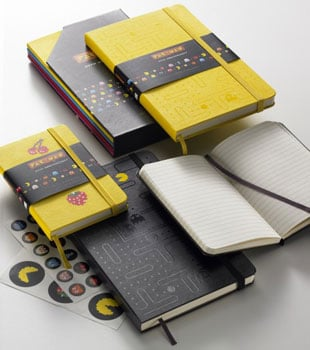 Pac-Man Moleskine Notebooks