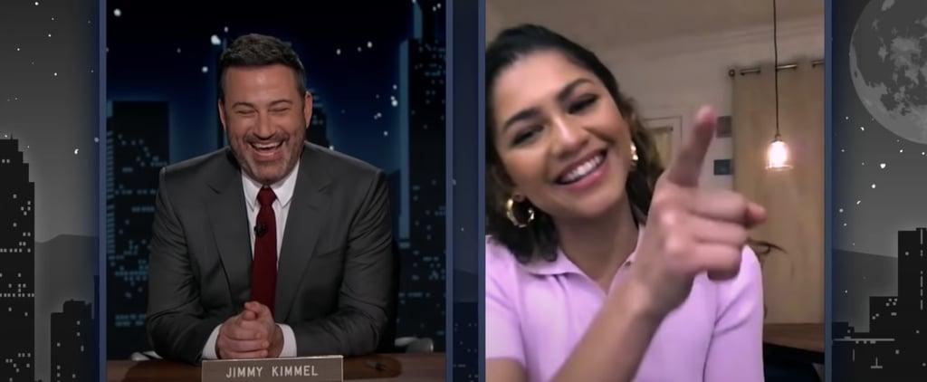 Watch Zendaya Not Spill Spider-Man Spoilers to Jimmy Kimmel