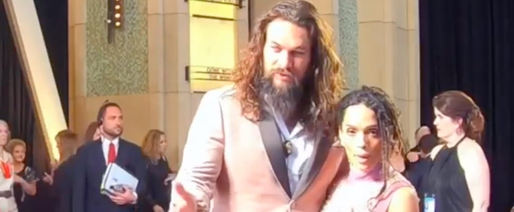 Jason Momoa and Lisa Bonet's Glambot Video at 2019 Oscars