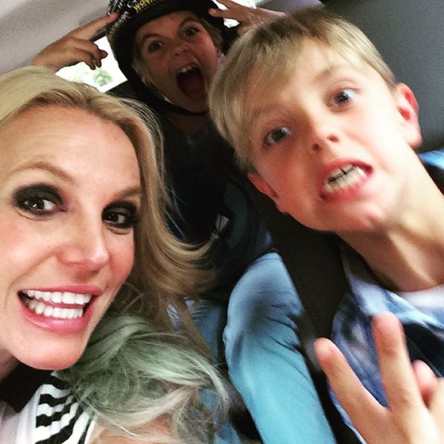 Britney Spears Celebrates Her Sons' Birthdays 2015