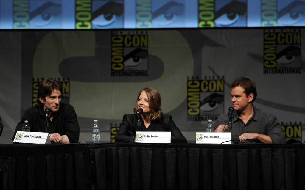 Sharto Copley, Jodie Foster, and Matt Damon did Comic-Con.