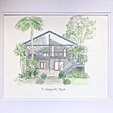 Custom Watercolour House Illustration ($99)