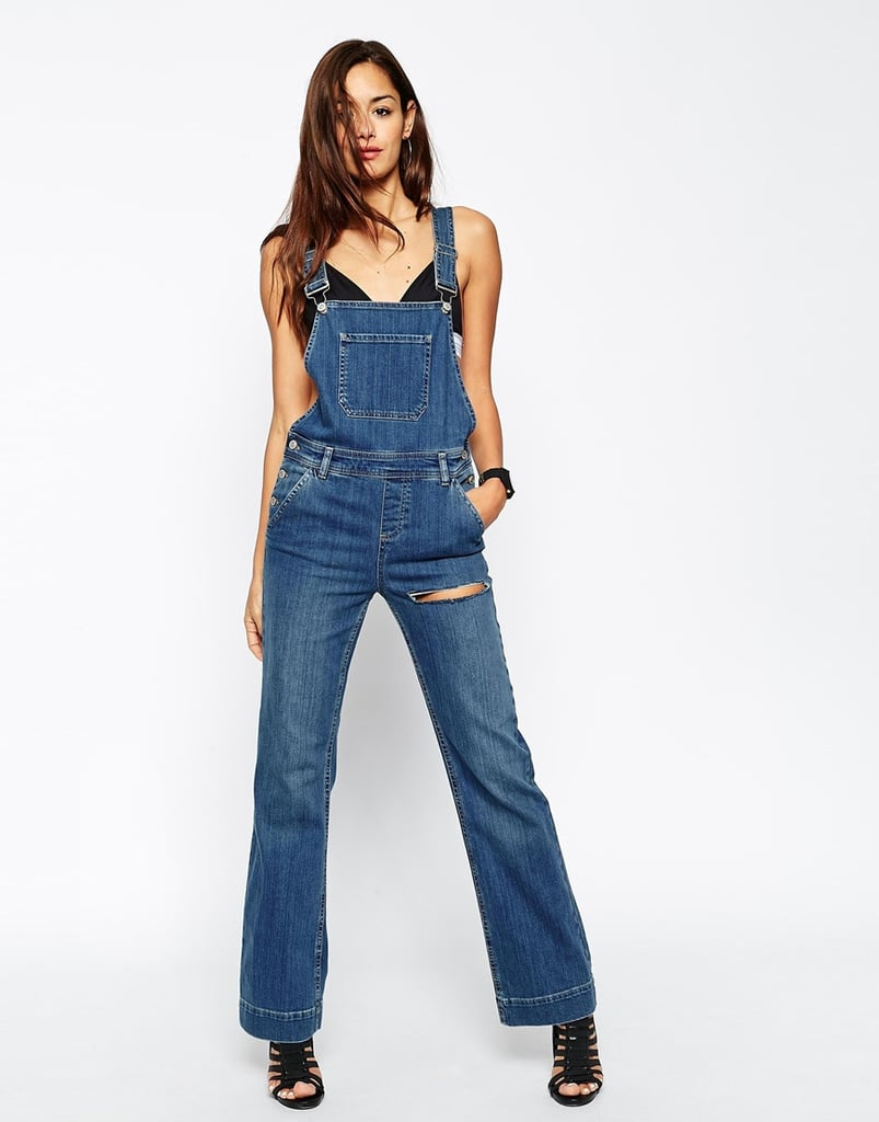 Asos Denim Overall Flare With Thigh Rip ($83)