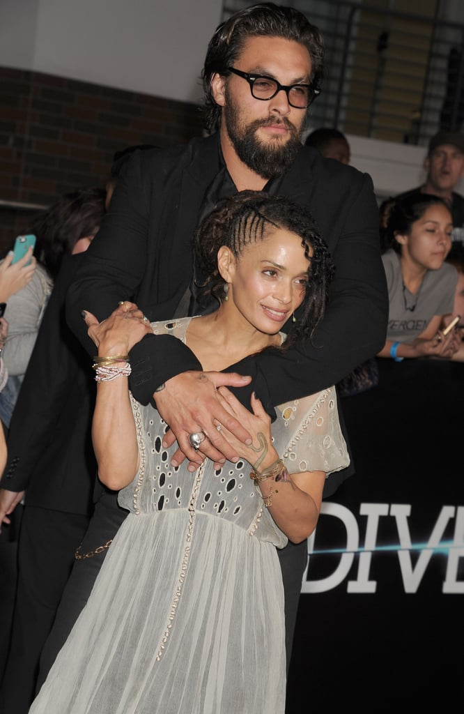 Jason Momoa and Lisa Bonet at the Divergent Premiere in March 2014
